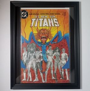 Teen Titans #4 Framed DC Comic book 1985 vintage